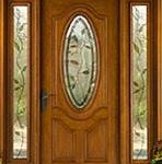wooden doors with sidelights