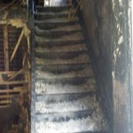 Fire damage before reconstruction.