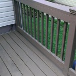 Exterior decking and railing replaced where needed and painted to match the original in Metuchen, NJ.
