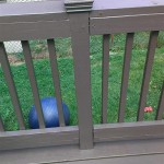 New railing on left and old railing on the right matched and painted in Metuchen, NJ.