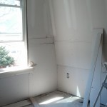 Second floor bedroom sheetrock installed in Maplewood, NJ.