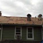 The roofing shingles have been removed in Hawthorne, NJ.