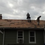 Prepping the roof for new GAF Timberline shingles in Hawthorne, NJ.