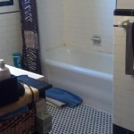 Bathroom prior to renovation in Hasbrouck Heights, NJ.