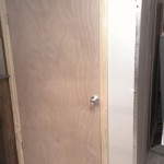 Another view of the new utility closet and door.
