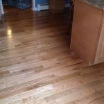 New hardwood flooring in the kitchen of this house in Mountain Lakes, NJ.