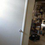 The basement walls, door, and flooring completed.