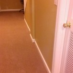 New carpeting installed in the basement in Mountain Lakes, NJ.