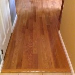 New Bruce hardwood flooring installed in the kitchen of this house in Mountain Lakes, NJ.