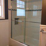 New custom frameless glass shower doors.