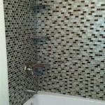 New shower tile and shelves installed in Morris Plains, NJ.