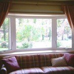Inside view of the bay window.