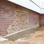 The completed footing with brick reinstalled and pointed in Spotswood, NJ.