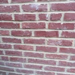 Image of newly repointed brick at the rear of the church in Spotswood, NJ.