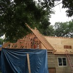 Framing going up in Short Hills, NJ.