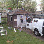 Work beginning on the garage.
