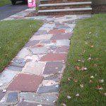 Walkway before pavers.