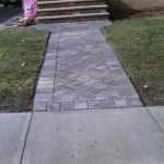 Walkway with new pavers.