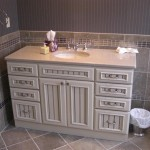 New vanity installed in the master bathroom.