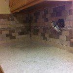 New quartz countertops and backsplash installed in Florham Park, NJ.