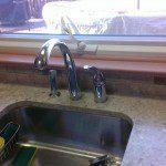 New single basin sink and quartz countertops installed in Florham Park, NJ.