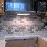 New kitchen countertops and tile backsplash in Florham Park, NJ.