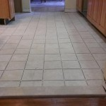 A view of the new tile floor before grout is installed in Florham Park, NJ.