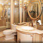 Custom tile and bathroom vanity.