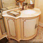 Close-up of custom bathroom vanity.