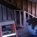 New framing during an attic renovation.