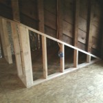 New framing and electric installed during an attic renovation.