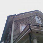 Damaged historic roof.