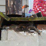 Before porch restoration in Hewitt, NJ