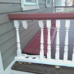 Damaged historic porch spindles.