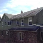 The existing three tab roof before tear-off in Hawthorne, NJ.