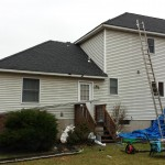 New shingles installed at the rear of the home.