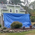 Beginning to demo the existing shingle roof in Hawthorne, NJ.