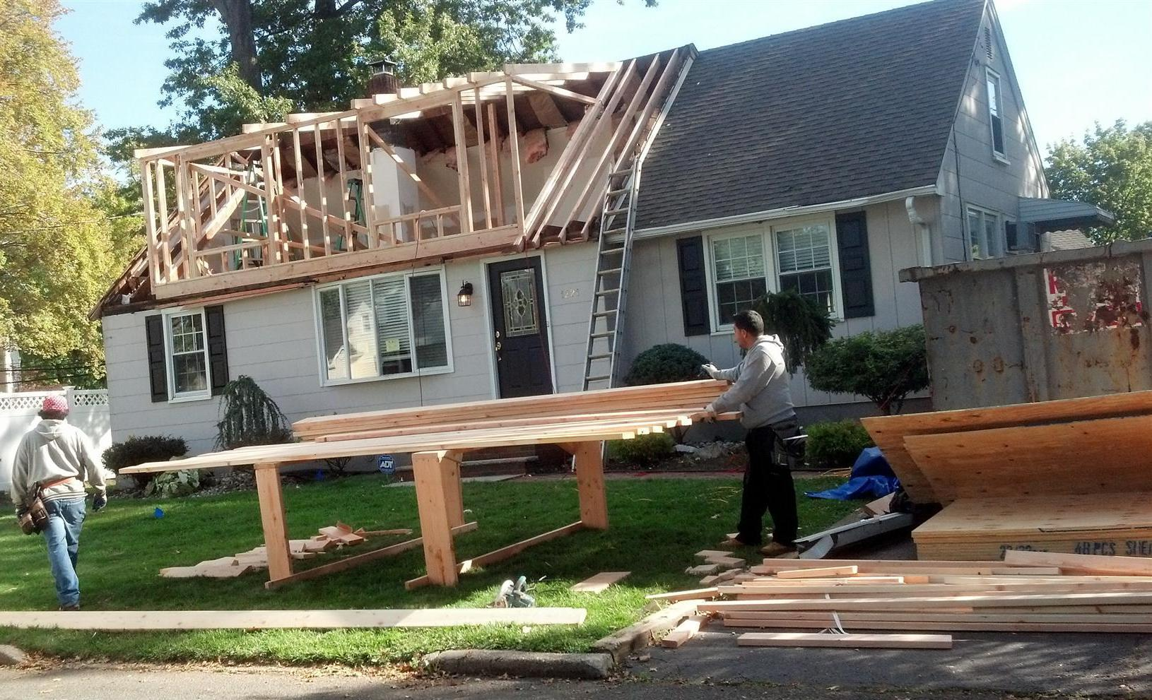 1 rahway nj dormer addition services m m construction for Framing a second floor addition