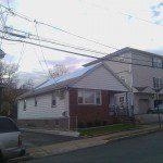 Storm damaged roof tarped Hillside, NJ.