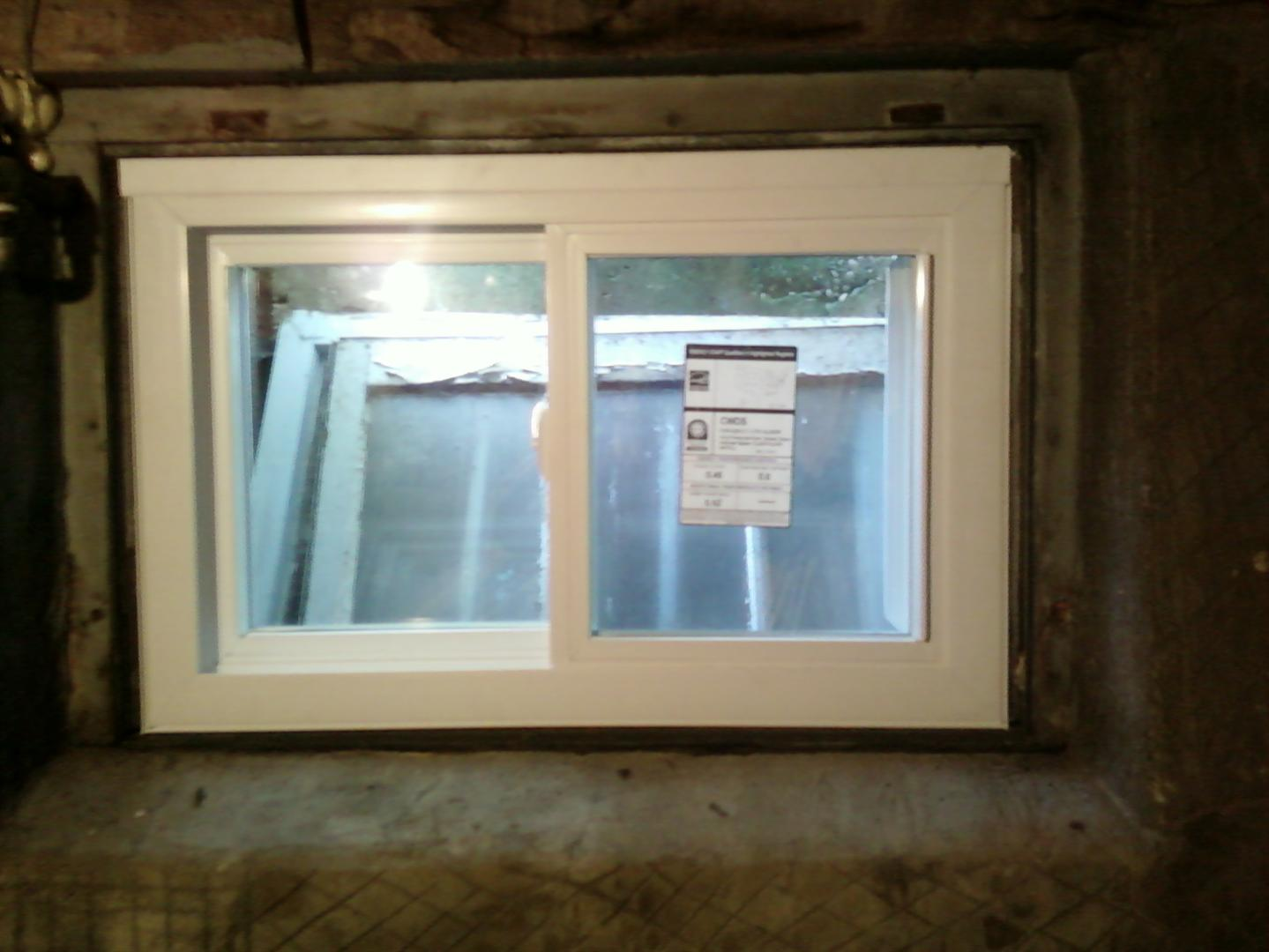 Top basement window installation near union nj m m for Replacement slider windows