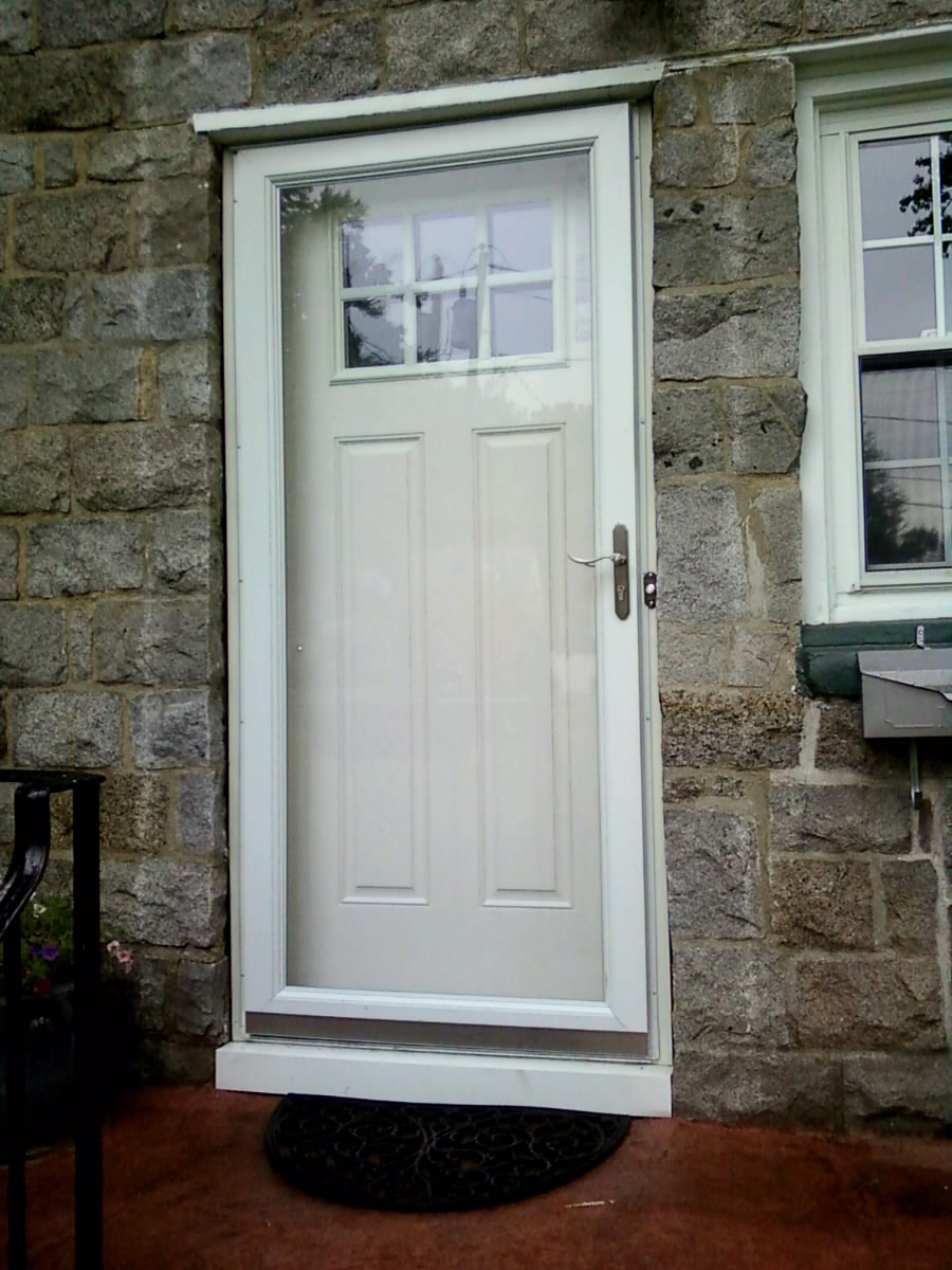 Affordable union nj window installations m m for Front door with storm door