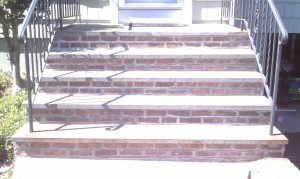 After repointing the mortar joints in Morristown, NJ
