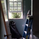 New moisture-resistant sheetrock installed in the bathroom in Parsippany, NJ.