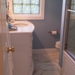 The fully renovated bathroom now in use in Parsippany, NJ.