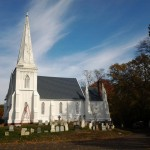 The lower sections and side of St. Peter's Church in Spotswood, NJ has been painted.