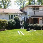 The old siding has been removed and Tyvek installed in Roseland, NJ.