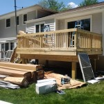 New deck and siding in progress in Roseland, NJ.