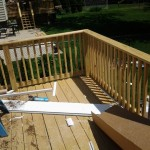 New pressure-treated decking and railings in Roseland, NJ.