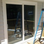 New energy-efficient Alside sliding glass door in Roseland, NJ.