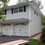 Newly installed insulated siding at the front of the house in Roseland, NJ.